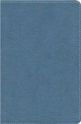 HCSB UltraThin Reference Bible, Mantova blue imitation leather
