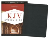 KJV Study Bible, Black Mantova imitation leather, indexed