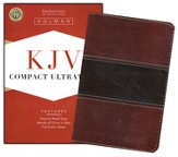 KJV Compact UltraThin Bible, Mahogany imitation leather