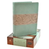 HCSB Study Bible, Teal/taupe soft leather-look, indexed