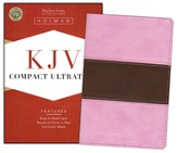 KJV Compact UltraThin Bible, Pink/brown soft leather-look
