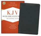 KJV Hand Size Giant Print Reference Bible, Black Mantova imitation leather