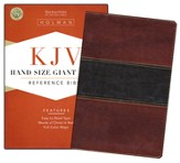 KJV Hand Size Giant Print Reference Bible, Mahogany imitation leather