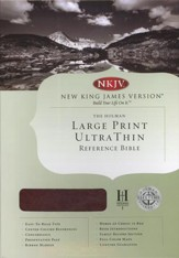 NKJV Large Print UltraThin Reference Bible, Mahogany imitation leather