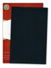 KJV UltraThin Reference Bible--genuine leather, black (indexed)