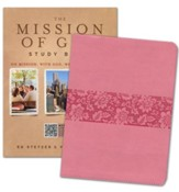 HCSB The Mission of God Study Bible-soft leather-look,  cameo rose