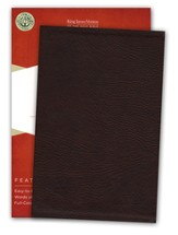 KJV UltraThin Reference Bible--soft leather-look, brown (indexed)