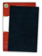 KJV UltraThin Reference Bible, Black Bonded Leather--Indexed