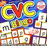 CVC Bingo Game: Reading and Spelling