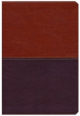NKJV Giant Print Reference Bible, Brown / Tan Imitation Leather, Thumb-indexed