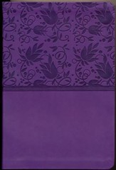 NKJV Large Print Personal Size Reference Bible, Purple LeatherTouch - Imperfectly Imprinted Bibles