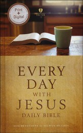 HCSB Every Day with Jesus Daily Bible A One-Year Reading Bible Hardcover