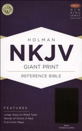 NKJV Giant Print Reference Bible, Black Imitation Leather