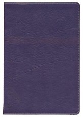 KJV Large Print UltraThin Reference Bible, Eggplant LeatherTouch, Thumb-Indexed