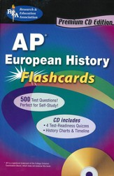 AP European History Flashcards with CDROM