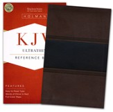 KJV UltraThin Reference Bible, Brown and Chocolate LeatherTouch