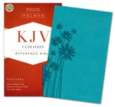 KJV UltraThin Reference Bible, Teal LeatherTouch