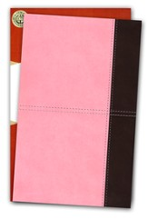 KJV UltraThin Reference Bible, Pink and Brown LeatherTouch
