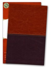 KJV UltraThin Reference Bible, Brown and Tan LeatherTouch