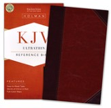 KJV UltraThin Reference Bible, Classic Mahogany LeatherTouch - Slightly Imperfect