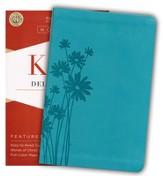 KJV Deluxe Gift Bible, Teal LeatherTouch