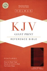 KJV Giant Print Reference Bible, Classic Mahogany LeatherTouch, Thumb-Indexed