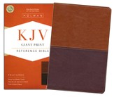 KJV Giant Print Reference Bible, Brown and Tan LeatherTouch
