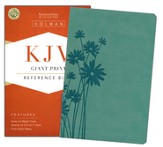 KJV Giant Print Reference Bible, Teal LeatherTouch