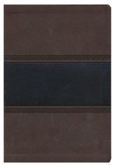 KJV Giant Print Reference Bible, Brown and Chocolate LeatherTouch, Thumb-Indexed