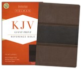 KJV Giant Print Reference Bible, Brown and Chocolate LeatherTouch - Imperfectly Imprinted Bibles