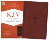 KJV Giant Print Reference Bible, Brown LeatherTouch - Slightly Imperfect