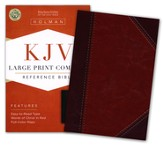 KJV Large Print Compact Reference Bible, Classic Mahogany LeatherTouch