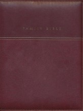 NIV Family Bible, Duo Tone burgundy 1984