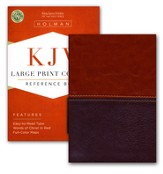 KJV Large Print Compact Reference Bible, Brown and Tan LeatherTouch