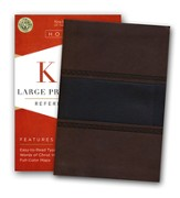 KJV Large Print Compact Reference Bible, Brown and Chocolate LeatherTouch