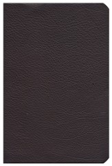 KJV Large Print Personal Size Reference Bible, Brown Genuine Cowhide, Thumb-Indexed