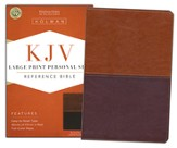 KJV Large Print Personal Size Reference Bible, Brown and Tan LeatherTouch