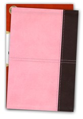 KJV Large Print Personal Size Reference Bible, Pink and Brown LeatherTouch