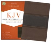 KJV Large Print Personal Size Reference Bible, Brown and Chocolate LeatherTouch