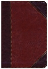 NKJV Large Print Compact Reference Bible, Classic Mahogany LeatherTouch