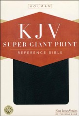 KJV Super Giant Print Bible, Black Imitation Leather  - Slightly Imperfect