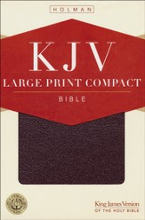 Holman KJV Large Print Compact Reference Bible -   Burgundy Bonded Leather  - Slightly Imperfect