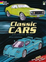 Classic Cars Coloring Book