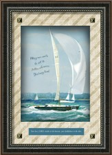 May Our Sails Be Set To Follow Wherever God May Lead Framed Art