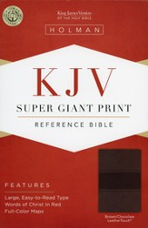 KJV Super Giant Print Reference Bible, Brown and Chocolate LeatherTouch