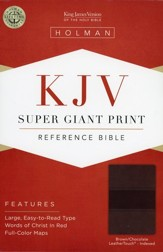 KJV Super Giant Print Reference Bible, Brown and Chocolate LeatherTouch, Thumb-Indexed