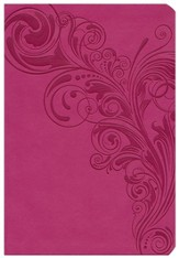 KJV Super Giant Print Reference Bible, Pink LeatherTouch