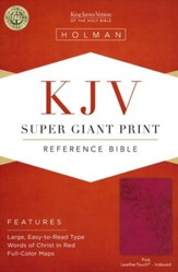 KJV Super Giant Print Reference Bible, Pink LeatherTouch, Thumb-Indexed