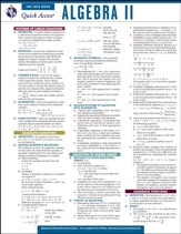 Algebra 2 - Quick Access Reference Chart