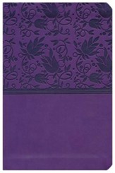 HCSB Compact Ultrathin Bible, Purple LeatherTouch